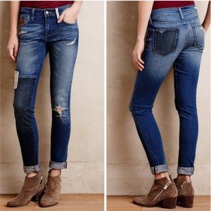 Pilcro&The Letterpress Stet Distressed Ankle Jeans